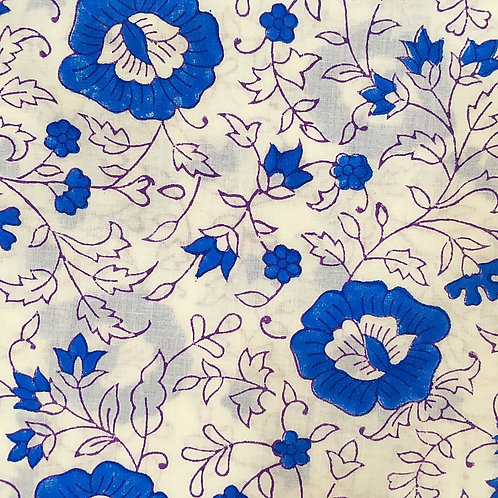 BLUE RANI COT FITTED SHEET