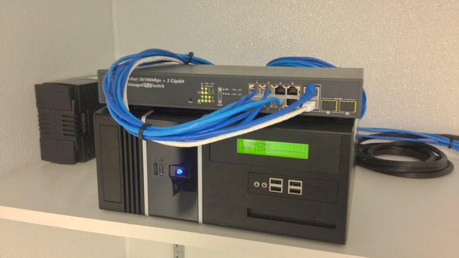 X5 Networks Installs 5 IP Cameras, DVR, POE Switch / Router and Cat5 Data Drops at Restaurant.