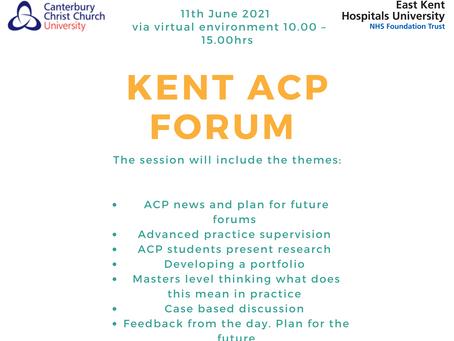 Kent ACP forum 11th June 2021
