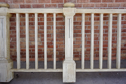3 Sections Of Wooden Fence 92in - 109in And 86in Wide X 50in