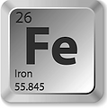 periodic table for iron