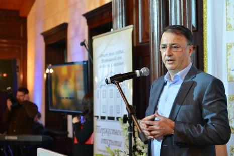 Выступает президент Федерации еврейских общин СНГ Леви Леваев