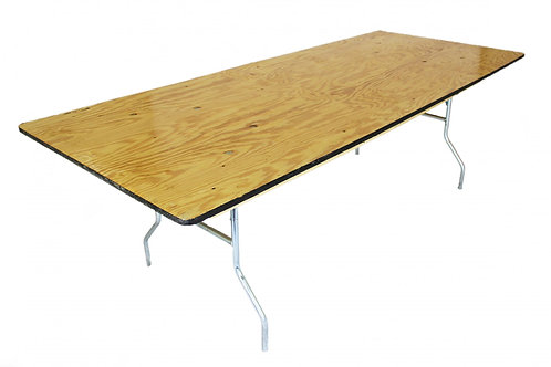 "30"" x 8' Banquet Table"