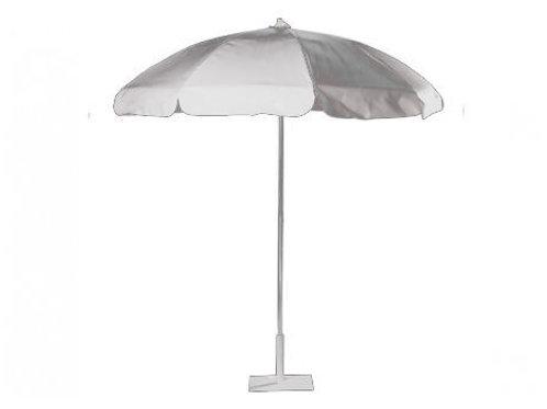 "White Vinyl Umbrella for Table with Base 72"""