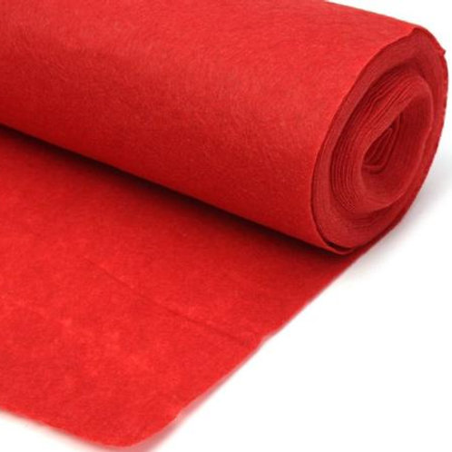 Red Linen Aisle Runner 75'