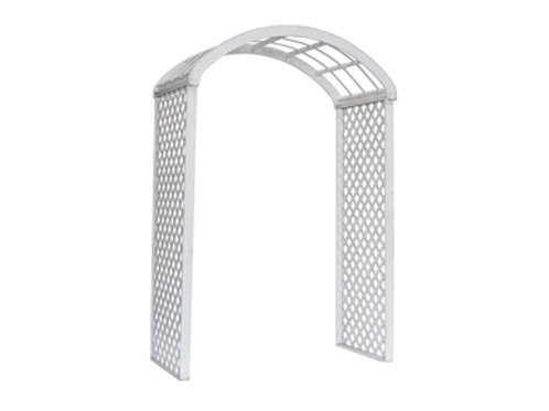 White Wood Lattice Arch