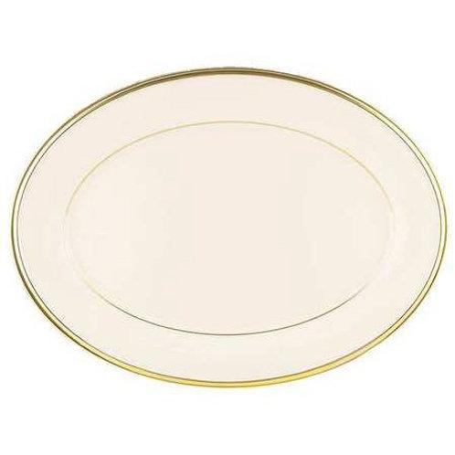 """14"""" Ivory & Gold Platter"""