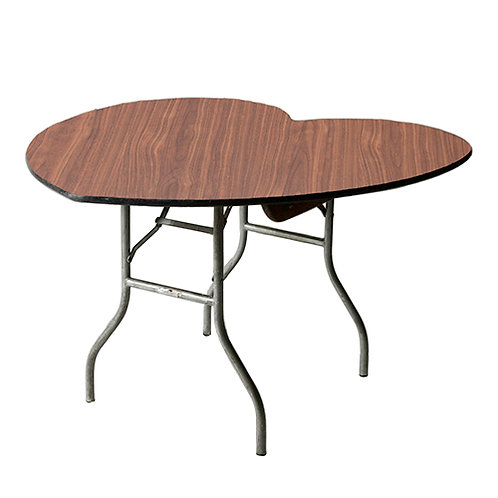 Heart-shaped table