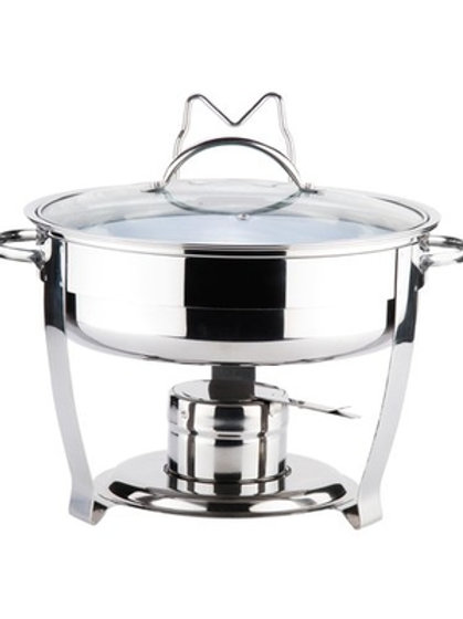Stainless Steel Round Chafing Dish - 3 Qt.
