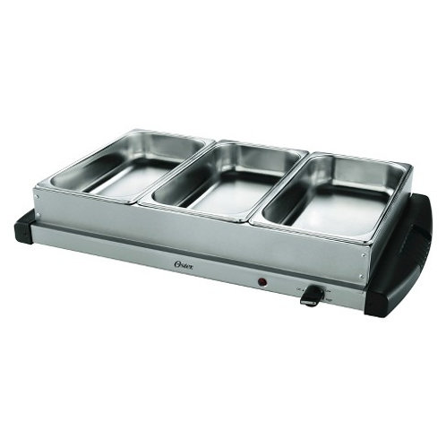 Stainless Steel Buffet Server with 3 or 4 Sections