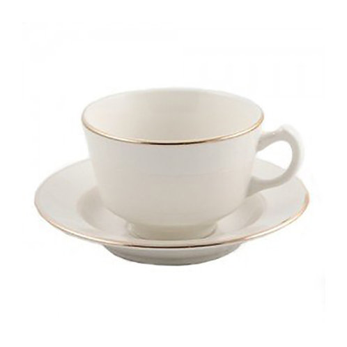 Ivory & Gold Coffee cup - Saucer