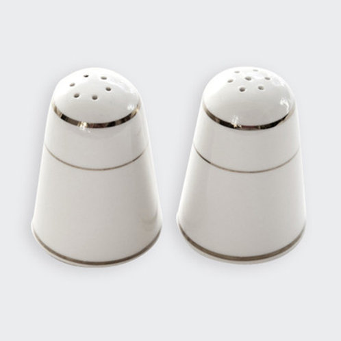 Ivory & Gold Salt & Pepper Shakers