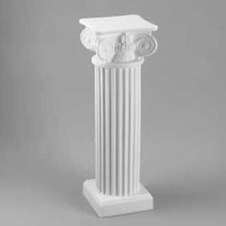 "40"" White Ornate Column"