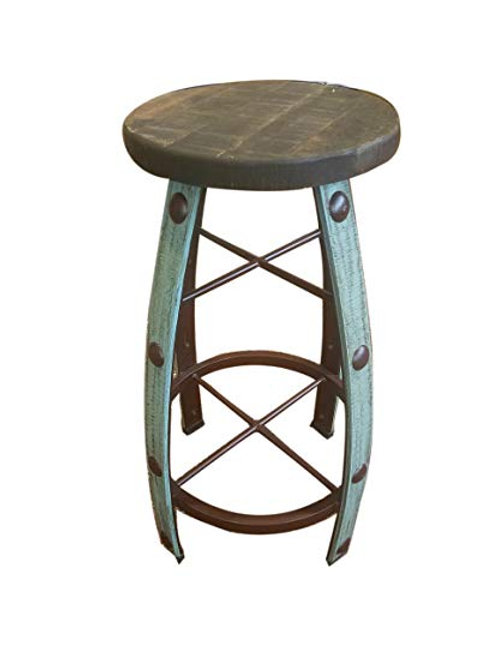 Barrel-Like Bar Stool