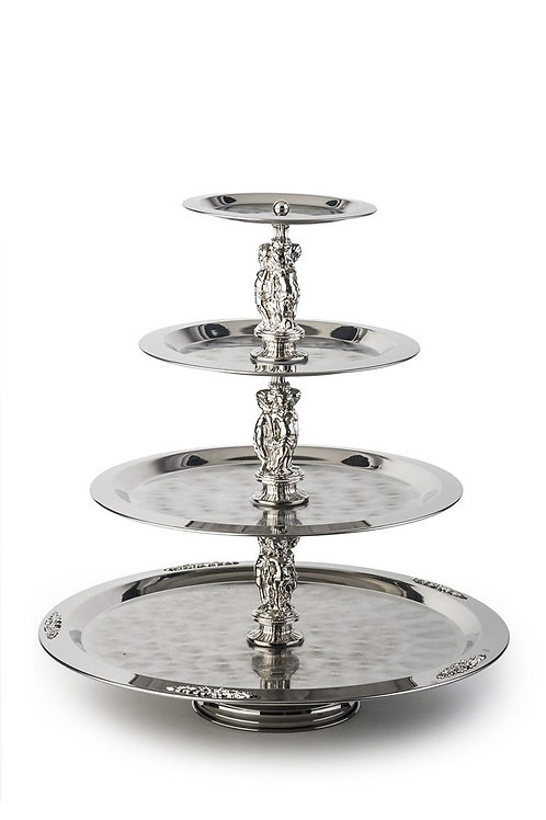 4 Tier Stainless Pastry Stand