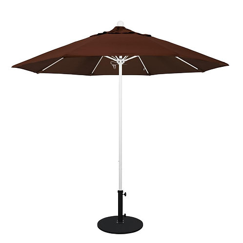 Brown Market Umbrella with Base 96""