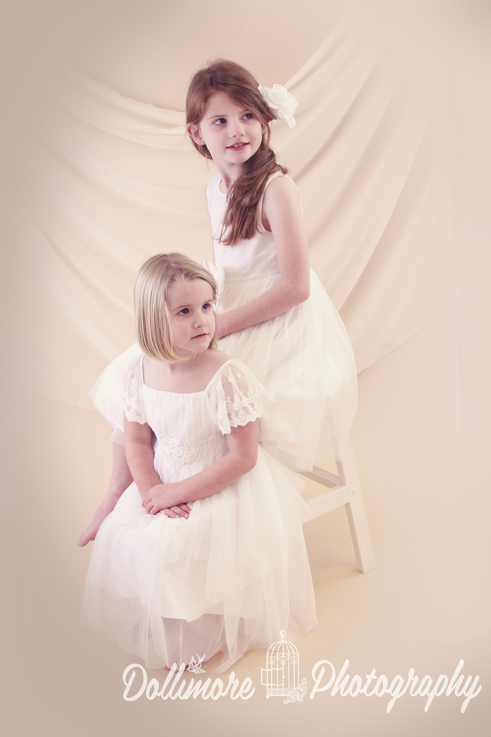 Soft and delicate sisters portraits by Dollimore Photography Chester
