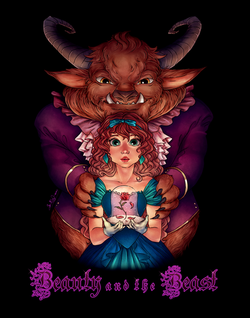BEAUTY & BEAST THEATER POSTER