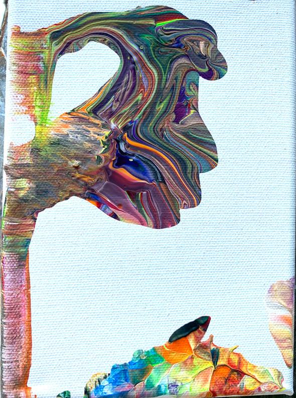 Dino kiss.   Acrylic