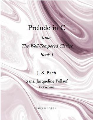 Prelude in C for lever harp, J. S. Bach, trans. Jacqueline Pollauf