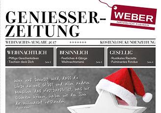 Geniesserzeitung Weihnachten 2017