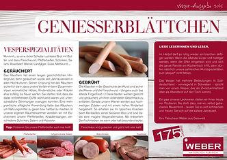 Geniesserblättchen Vesper 2015