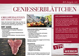 Geniesserblättchen Grill 2015