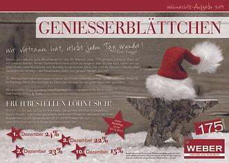 Geniesserblättchen Weihnachten 2014