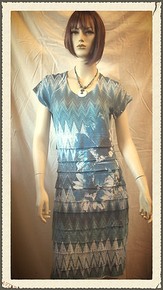 Short patterned dress by Cubism size small