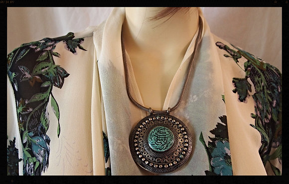 BEAUTIFUL MEDALLION NECKLESS FROM AFGHANISTAN
