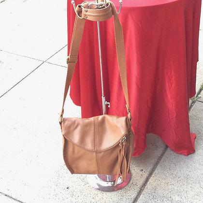 Mid sized brown shoulder bag by The Sak