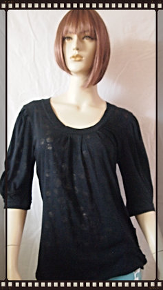 Mid sleeved Cubism top size large