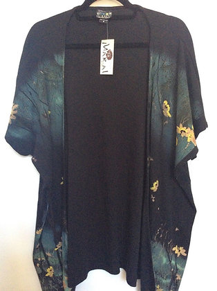 NWT M 100% Cotton oversized Cardigans w/Beautiful Flowers by Citron Santa Monica
