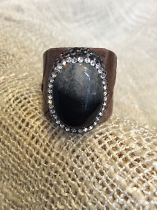 leather adjustable band ring from turkey