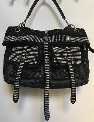 vegan leather embellished purse