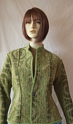 Green reversible jacket by khangura