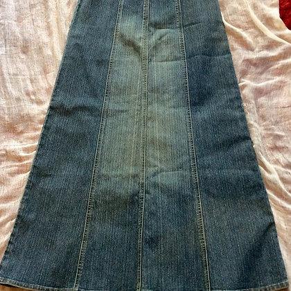 Long Carol Anderson denim Full Skirt