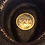 Thumbnail: Black straw cowboy hat with a sun emblem by Scala
