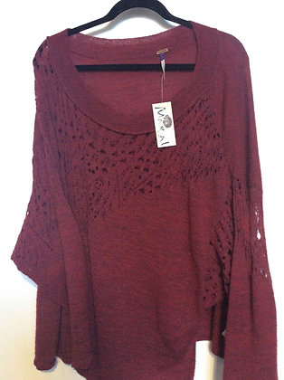 NWT SZ M BEAUTIFUL OVERSIZED SWEATER BY FREE PEOPLE
