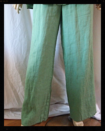 100% linen full pants by Flax size small
