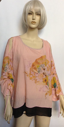 NWT size Large pink blouse by Citron of Santa Monica