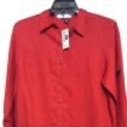 NWT size Xl red linen top by Ralph Lauren