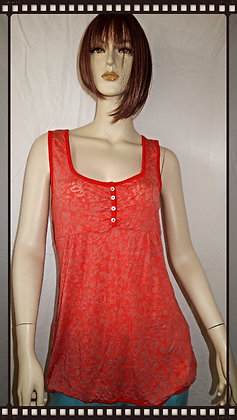 Orange top by Cubism size small