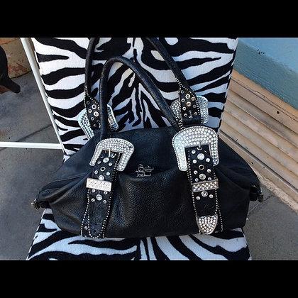 Vintage Black Leather Charm & Luck Purse