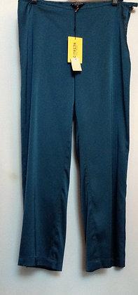 Silk blue citron pants