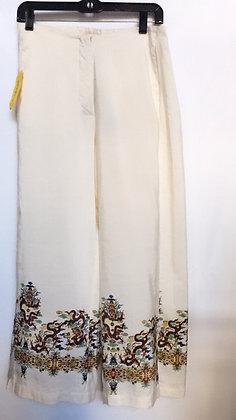 NWT size M 70% silk 30% linen beige color pants by Citron of Santa Monica