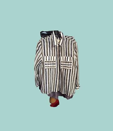 Striped Massimo Dutti button up blouse Massimo Dutti