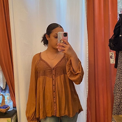 Light weight brown free people blouse