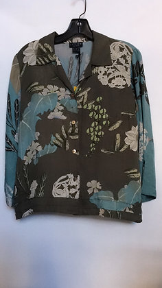 NWT size Medium Citron of Santa Monica blouse with floral prints