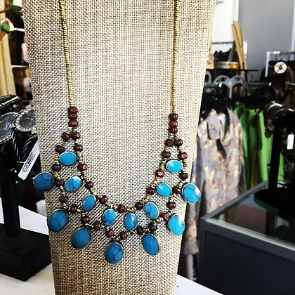 Beautiful turquoise necklace hand made